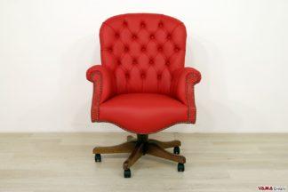 Sedie Da Ufficio Senza Rotelle : Poltrone da ufficio e sedie in pelle classiche con girevole