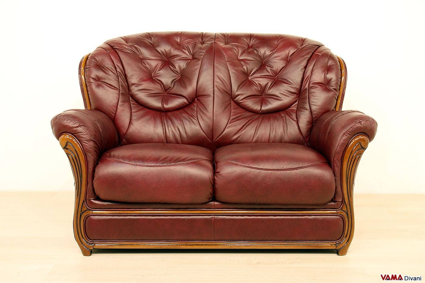 Offerta divano 2 posti vintage vama divani - Dimensioni divano 2 posti ...