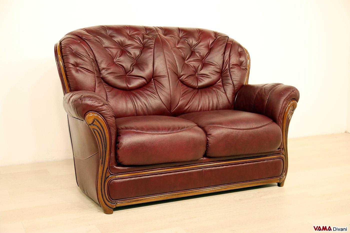 Offerta divano 2 posti vintage vama divani - Divano letto retro ...