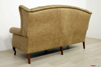 Retro divano bergere classico con schienale alto