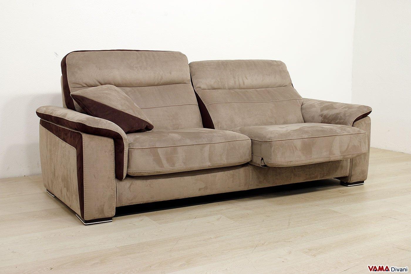 Offerta divano con seduta scorrevole fox vama divani - Divano letto scorrevole ...