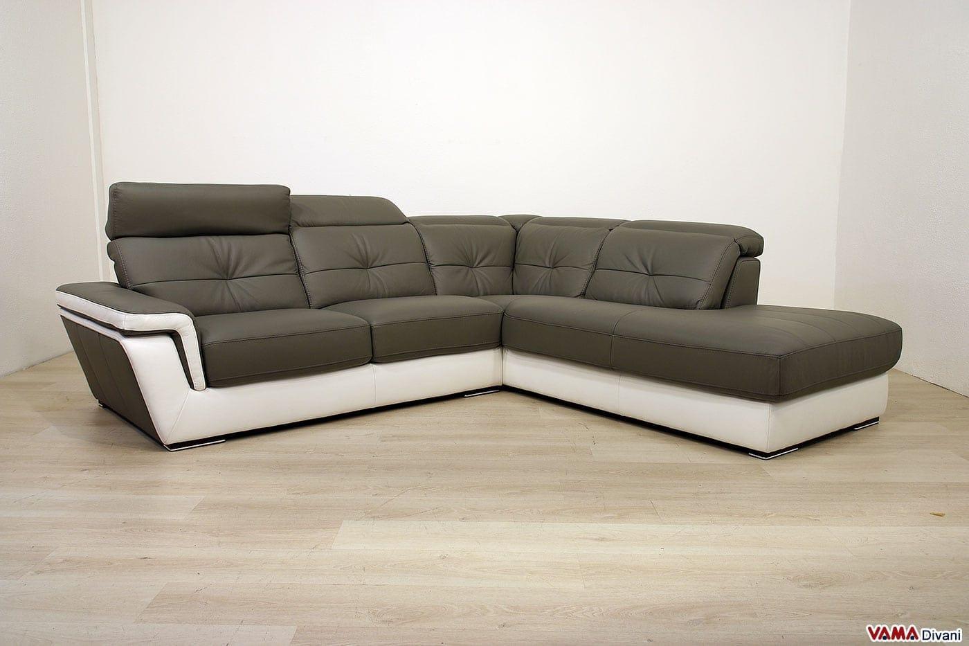 Offerta divano angolare maryland vama divani - Copridivano angolare per divano in pelle ...