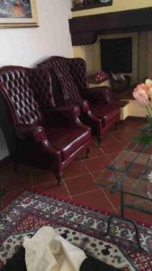Poltrone bergere capitonnè in casa del cliente