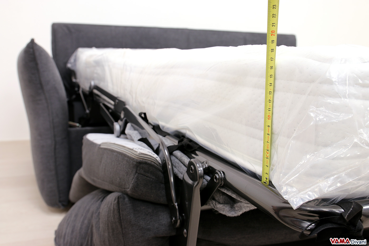 Materasso alto divano letto comodo