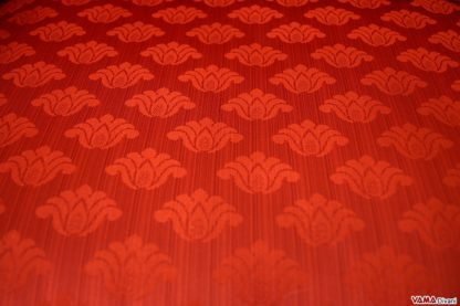 Tessuto damascato rosso
