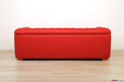 Dietro divano 3 posti rosso in pelle