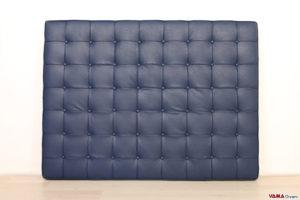 Testata letto barcelona ecopelle blu