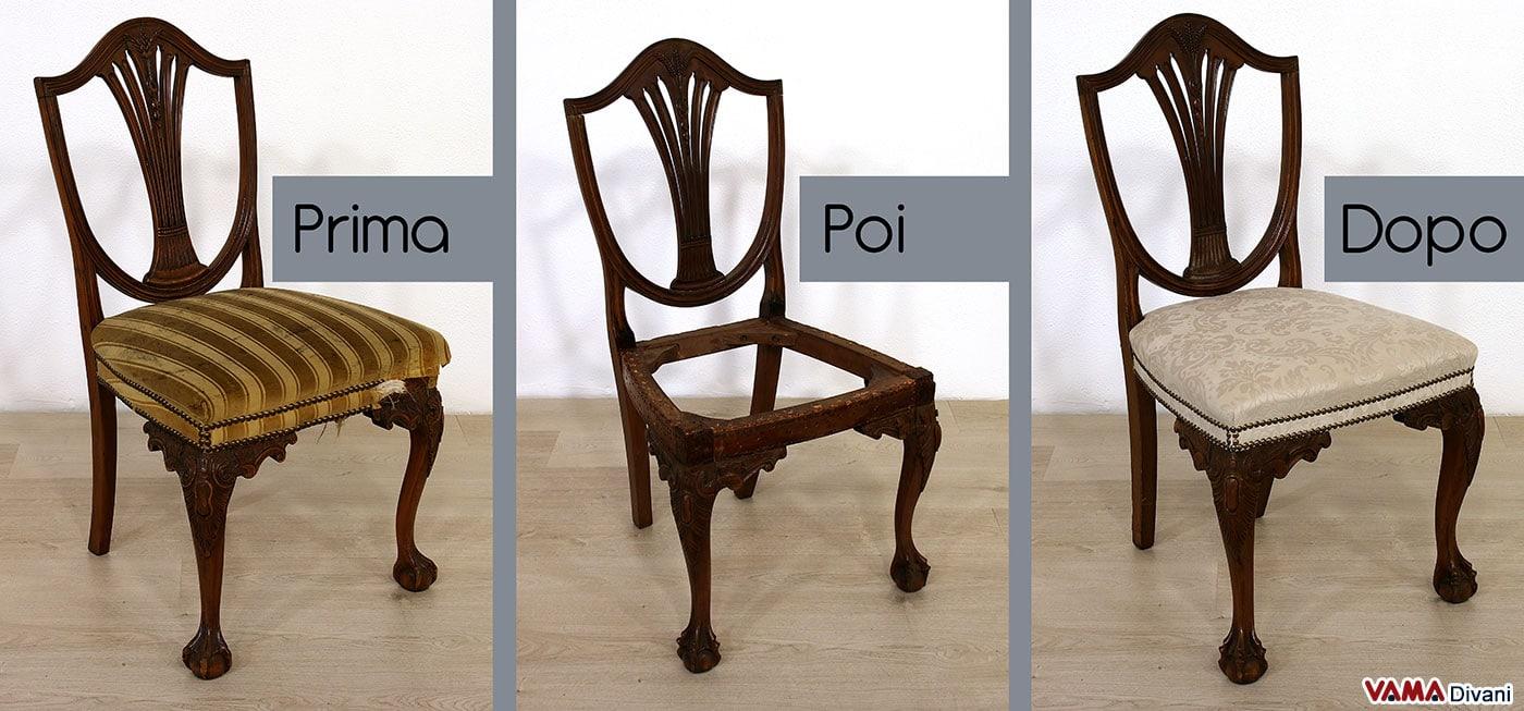 Restauro sedia antica