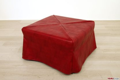 Pouf letto ecopelle rosso
