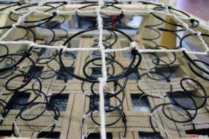 Molleggio divano Chesterfield molle biconiche in acciaio