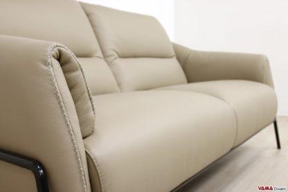 Bracciolo divano design moderno in pelle