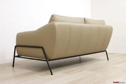Dietro divano design con struttura e gambe in ferro