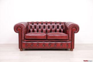 divano chester 2 posti rosso pronta consegna