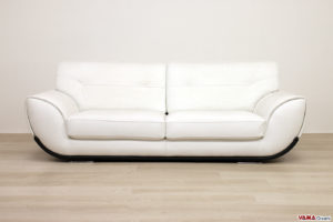 Divano 3 posti moderno in pelle bianca