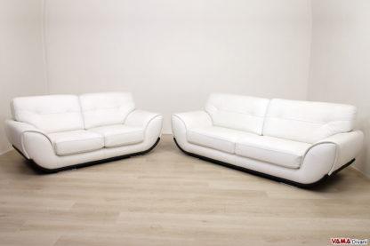 Salotto moderno bianco in pelle in offerta