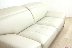 Cuciture seduta divano moderno grigio in pelle
