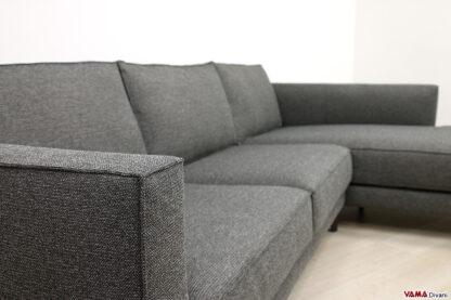 Bracciolo divano moderno con cucitura a labbro