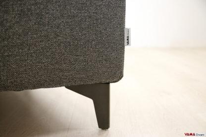 Piedino divano moderno in acciaio nero opaco antracite