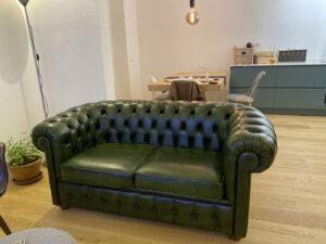 Recensione cliente divano Chesterfield 2 posti verde inglese