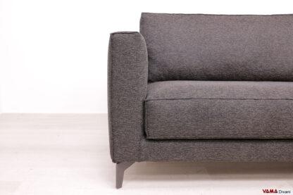Bracciolo lineare imbottito del divano moderno