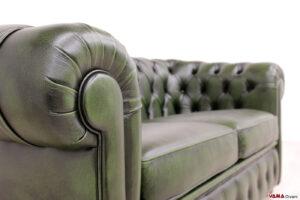 Bracciolo divano Chester 2 posti verde