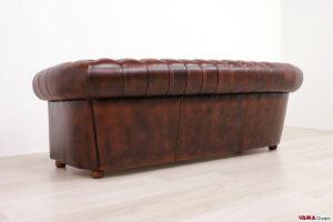 Dietro divano Chesterfield 3 posti ruggine