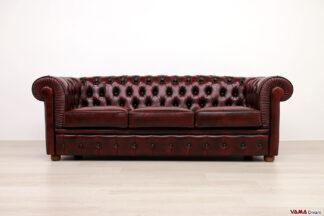 divano-chester 3 posti rosso offerta